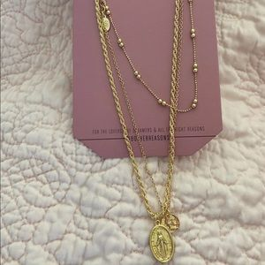 Revolve Gold Necklace set - Brand New, never worn!